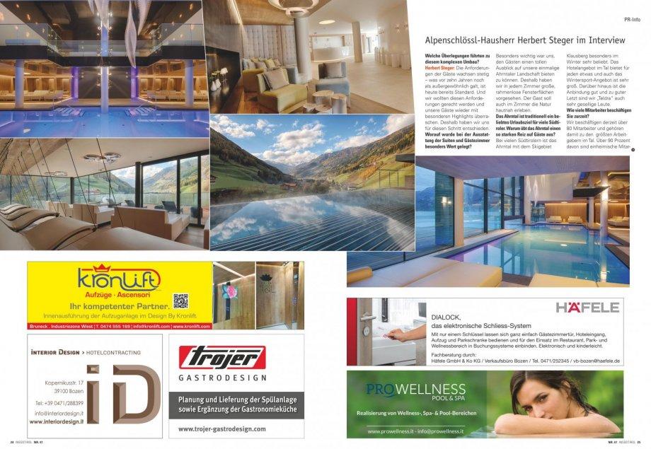 alpenschl ssl in s dtirol presse news interior design gmbh hotelcontracting. Black Bedroom Furniture Sets. Home Design Ideas
