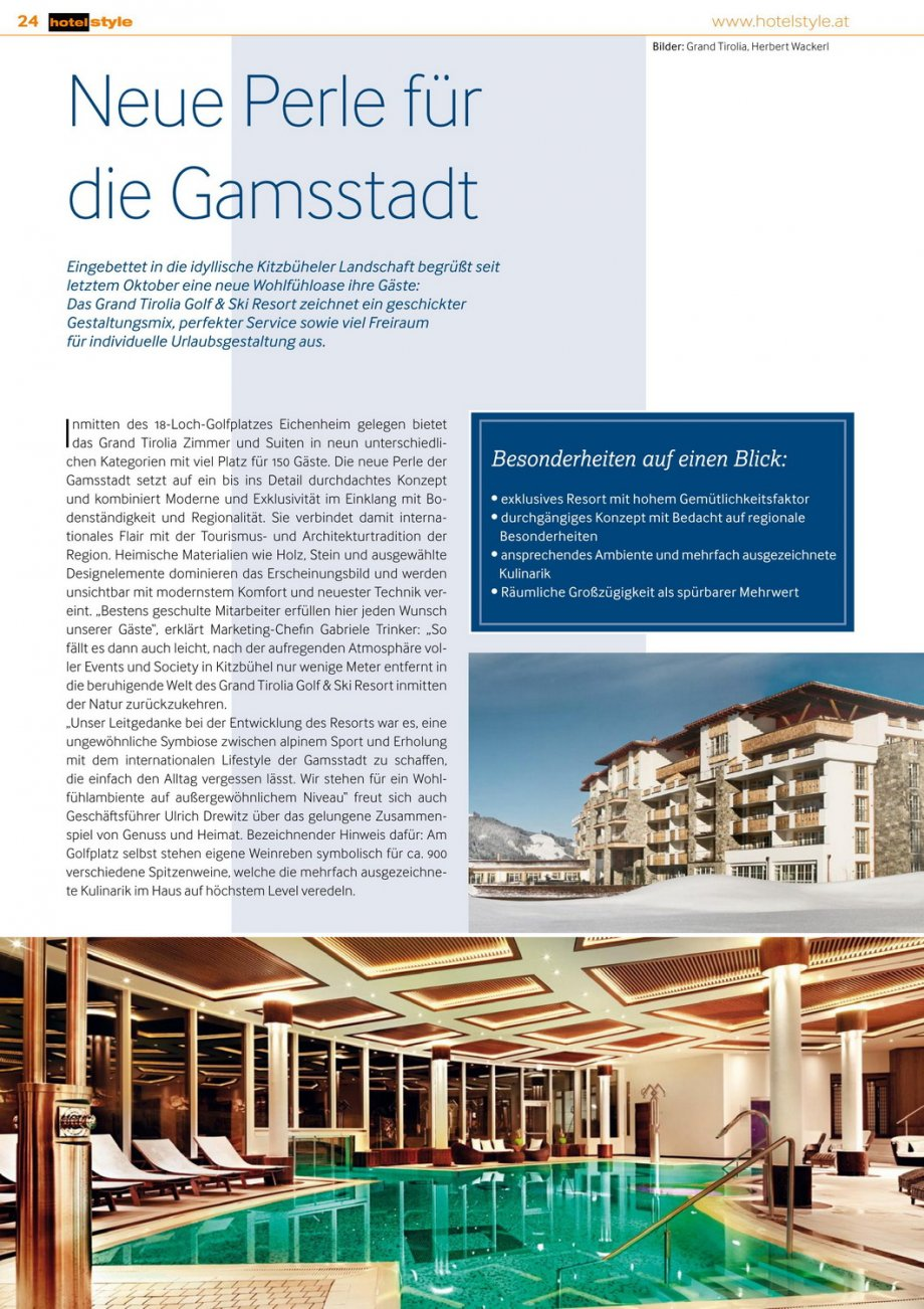 Grand Tirolia Hotelstyle Presse News Interior