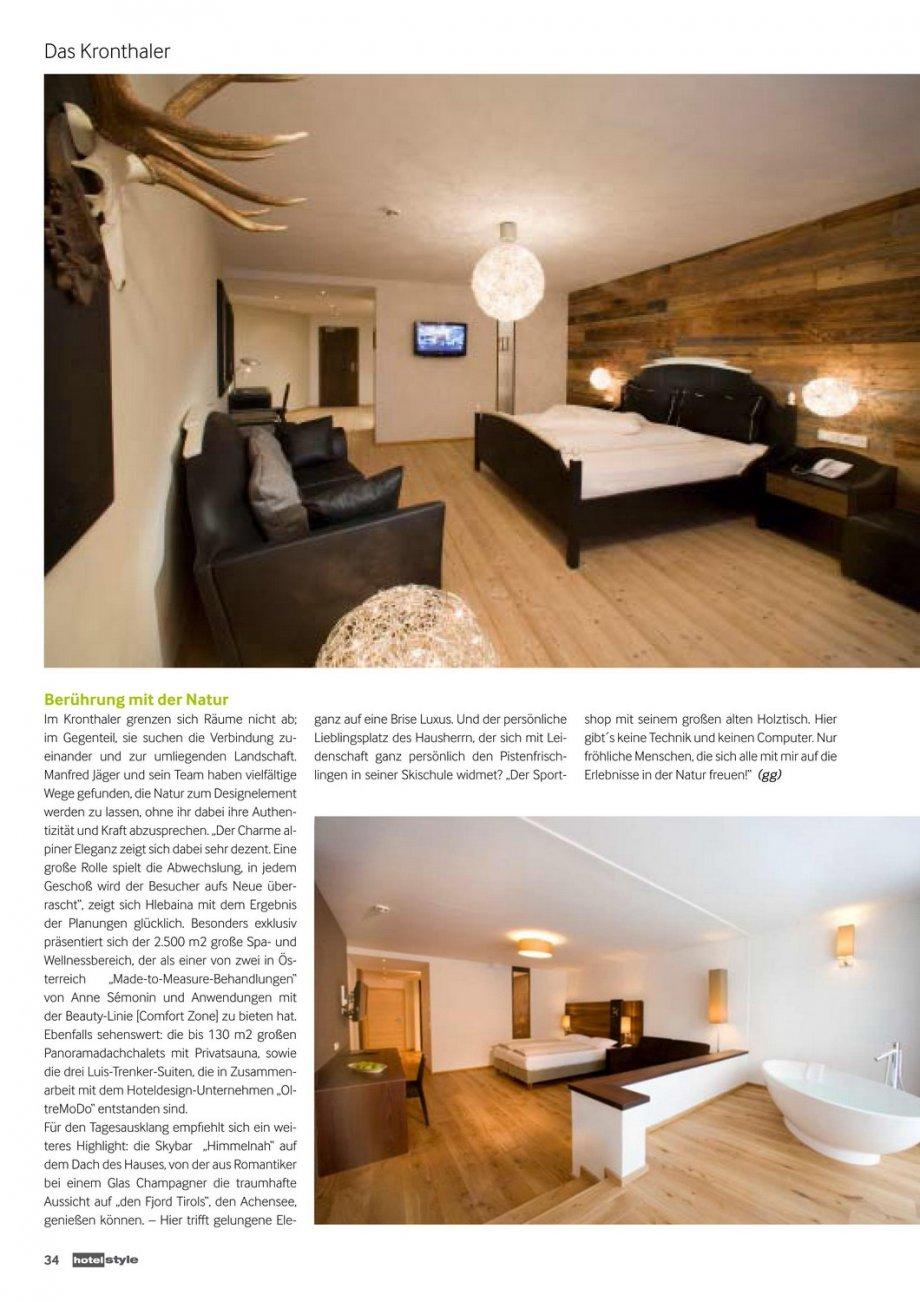 Das kronthaler hotelstyle presse news interior for Interior design gmbh