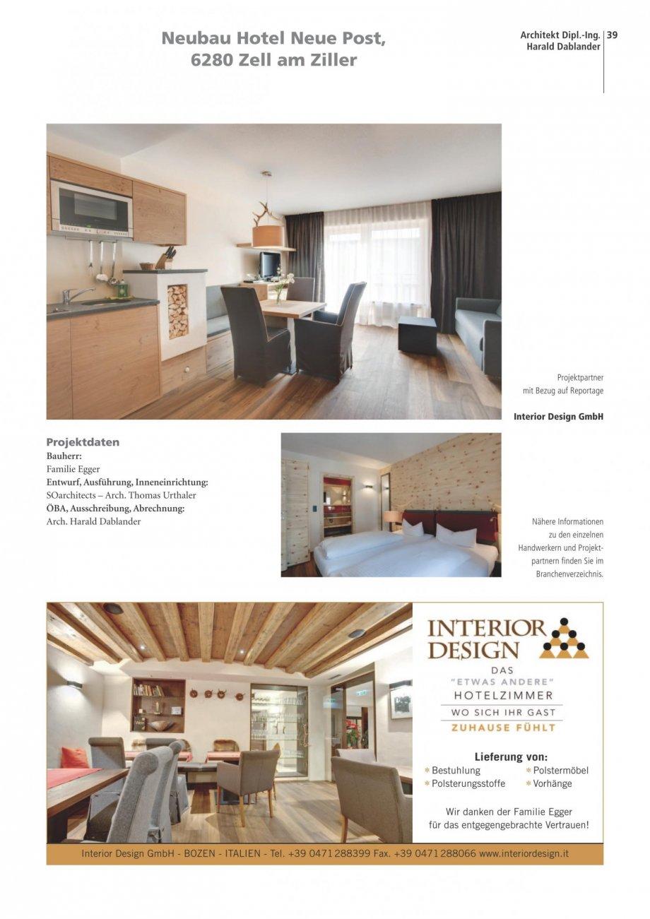 Neue post zillertal architektur report presse news for Interior design gmbh