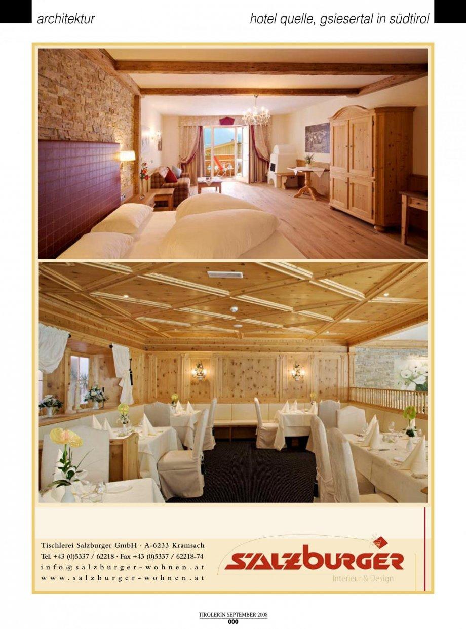 Hotel quelle die tirolerin presse news interior for Interior design gmbh