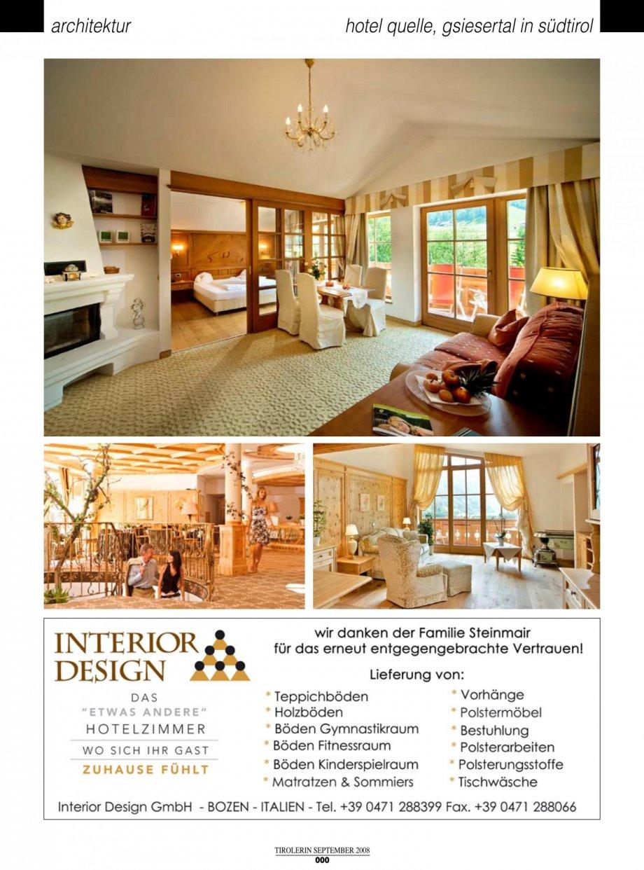 hotel quelle die tirolerin presse news interior design gmbh hotelcontracting. Black Bedroom Furniture Sets. Home Design Ideas