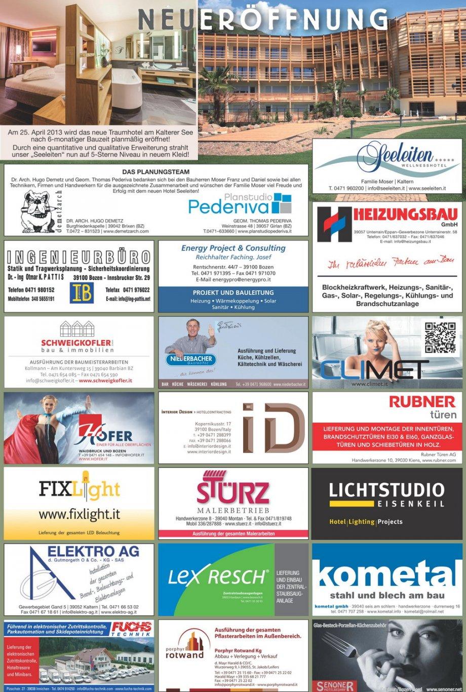 Hotel Seeleiten Dolomiten Presse News Interior