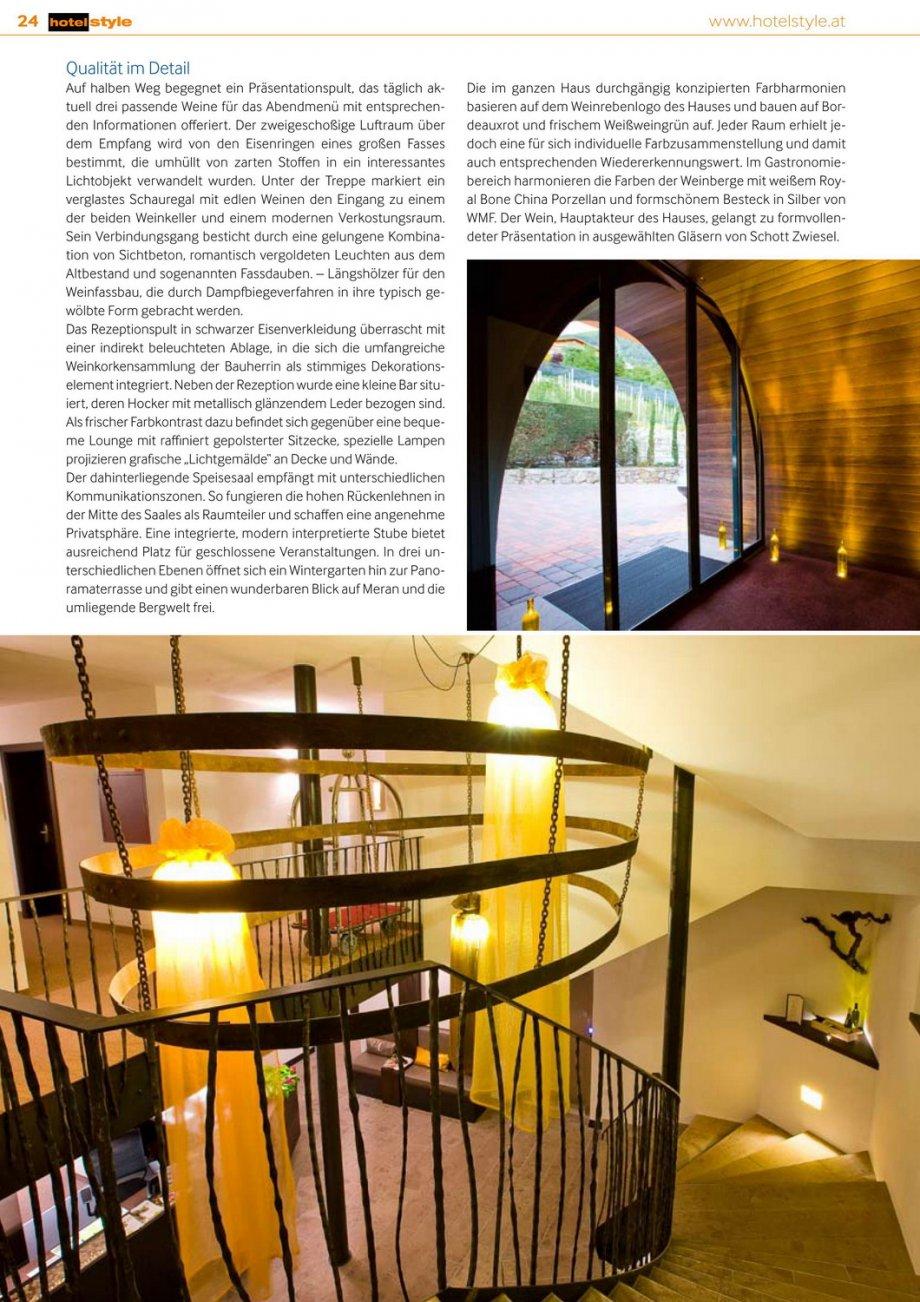Hotel Weinmesser Hotelstyle Presse News Interior